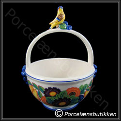 Konfektskål med hank. Gylden Sommer - Candy bowl with handles. Golden Summer - Royal Copenhagen